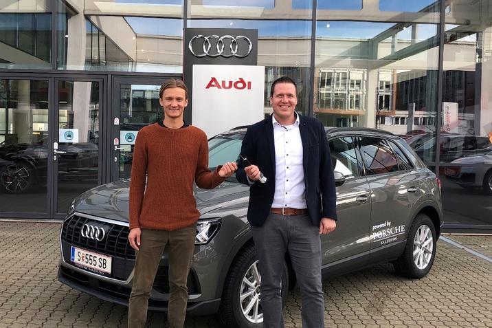 Daniel Huber und Audi Markenleiter Florian Brandtmeier